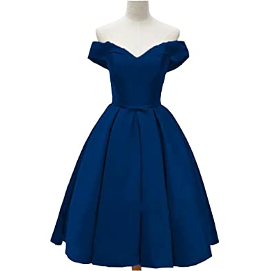Off Shoulder Lace-up Girls Special Occasion Dresses Pleats Bow Satin Short Homecoming Dress Party