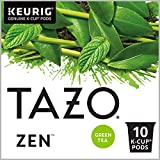 Tazo Zen K-Cup Pods For a Calming Tea Green Tea Moderately Caffeinated Morning Drink, 10 Count (Pack of 6)