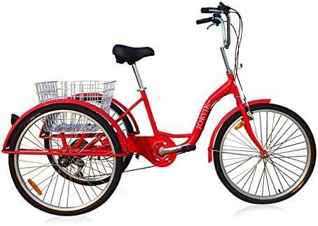 Jorvik 24 pulgadas de aluminio ligero triciclo Triciclo adultos ...