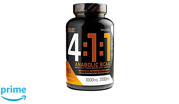 StarLabs Nutrition - 4:1:1 Anabolic BCAA - Aminoácidos ramificados - 100 capsulas: Amazon.es: Alimentación y bebidas