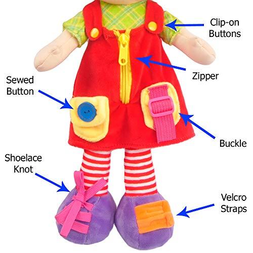 "Linzy Plush 16"" Educational Plush Doll"