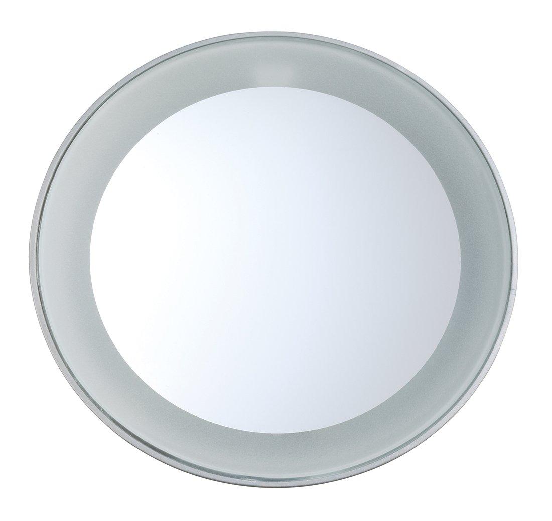 incluye pilas aumento x15 Miniespejo de aumento con luz LED de Tweezerman /ópticamente correcto
