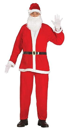 Guirca- Disfraz Papá Noel adulto Premium, Color rojo, talla L (42691.0)