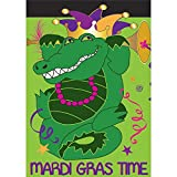 Mardi Gras Time Alligator 18 x 13 Rectangular Double Applique Small Garden Flag Review