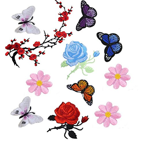 Flowers Butterfly Embroidery Applique Clothing