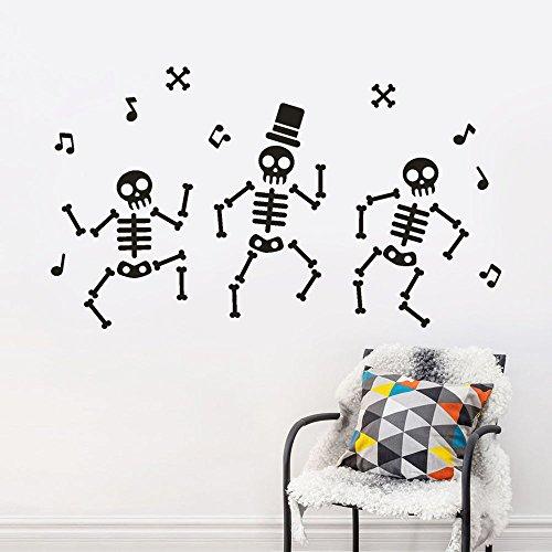 Auwer Happy Halloween DIY Wall Sticker Bone Decorations Wall Sticker Decorfor Kids Rooms Nursery Halloween Party (Black)]()