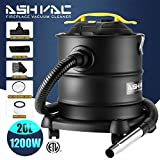 4.3 Gallon Ash Vacuum Cleaners -1200W 10 Amp Motor-2 Ash Filters -With Cleaning Kit for Fireplaces, BBQ Grills and wood stoves