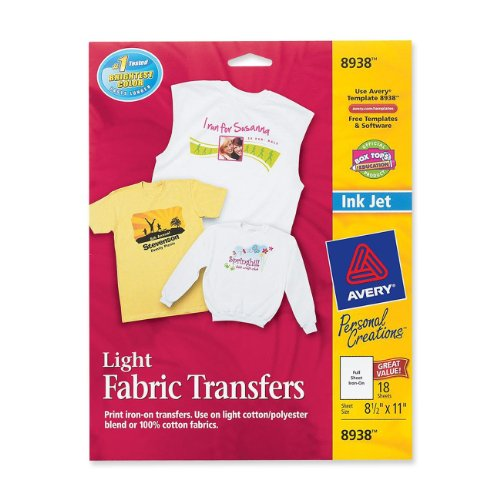 HP C6049A Iron-On Transfers, 8-1/2 x 11, White (Pack of 12) (Iron On Heat Transfer Paper For Laser Printers)