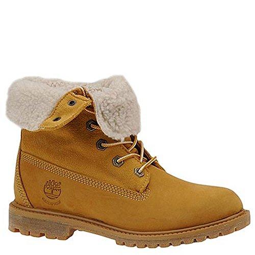 Timberland Women's Teddy Fleece Fold Down WP Boot,Wheat,11 M