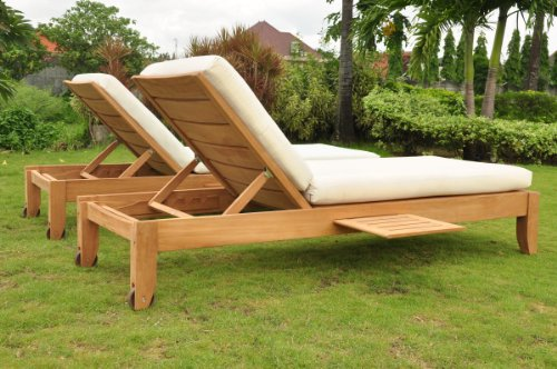 Seater Lounger (Outdoor Sunbrella Fabric Custom Made Cushions for Atnas Chaise Lounger - Cushions Only #WFCHATCS)
