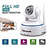 KUCAM 1080P WiFi Wireless IP Security Camera, Pan Tilt Night Vision Baby Monitor Nanny Cam with 2 Way Audio Review