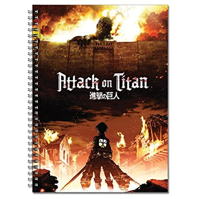 Great Eastern Entertainment Attack On Titan Key Visual Spiral Notebook: Toys & Games