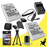 Two Halcyon 1500 mAH Lithium Ion Replacement EN-EL5 Battery and Charger Kit + Memory Card Wallet + SDHC Card USB Reader + Deluxe Starter Kit for Nikon Coolpix P510 16.1 MP Digital Camera and Nikon EN-EL5