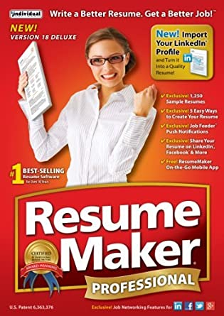 Amazon.com: ResumeMaker Professional Deluxe 18 - Free 1-Day Trial ...