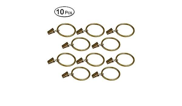 Lvcky 10 Anillas de Metal para Cortina con Clips, Perchero ...