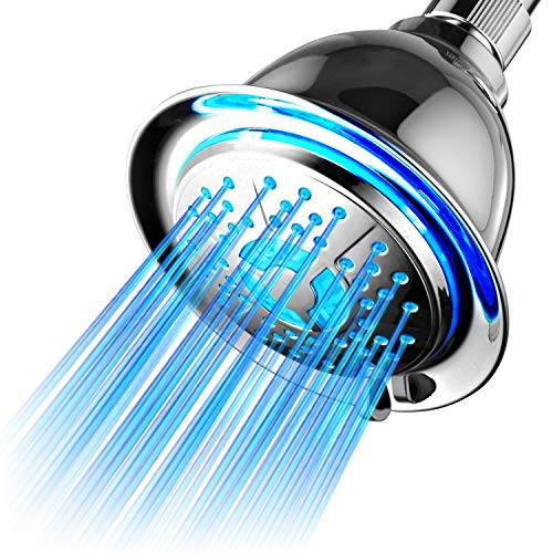 Led 3 Color Changing Lights Shower Head in US - 4