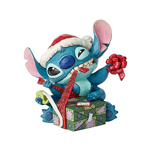 (Enesco Disney Traditions by Jim Shore Santa Stitch Wrapping Present)