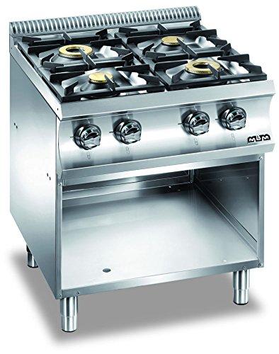 Cocina a gas 4 fuegos sin Horno Cocina monobloque sobre bastidor ...