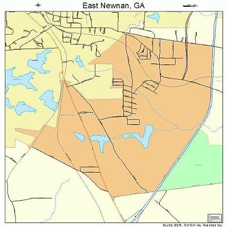 Map Of East Georgia.Amazon Com Large Street Road Map Of East Newnan Georgia Ga