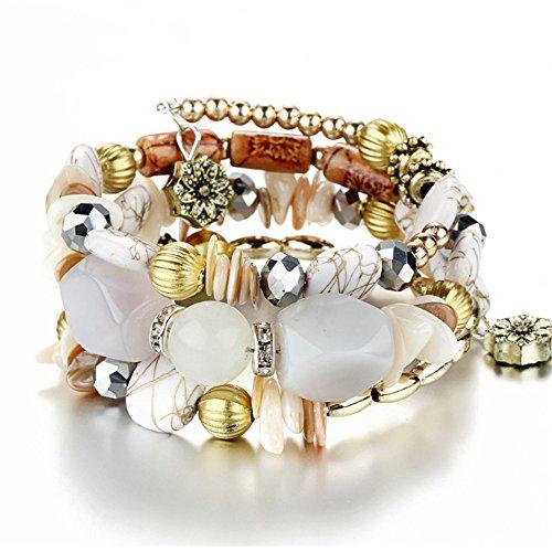 Vintage Bracelet Set - Beach Bangle Bracelet Charm Stretch Bracelet