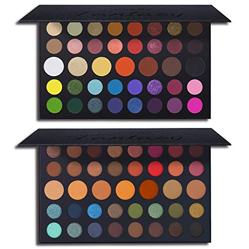 39 Colors High Pigmented Shimmer Matte Eyeshadow Makeup Palette Set Full Spectrum Artist Waterproof Creamy Blendable Eye Shadow Cosmetics Kit (1 Set)