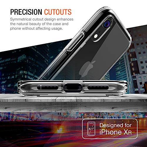 iPhone XR Case, Trianium Clarium Case Compatible Apple iPhone XR (2018)[6.1 ONLY] TPU Cushion Protection and Hybrid Rigid Clear Back Cover [ Work w/Most Screen Protector] - Clear