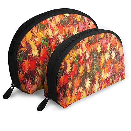 Pouch Zipper Toiletry Organizer Travel Makeup Clutch Bag Beautiful Autumn Leaves Gallery Portable Bags Clutch Pouch Storage Bags