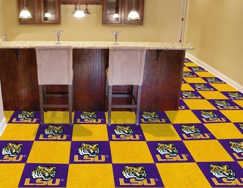 State Collegiate Carpet Tiles - Fanmats Purple and Yellow Carpet Tiles
