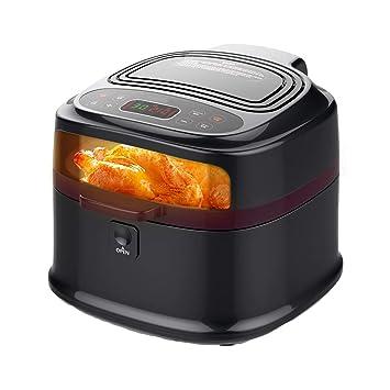 1200W Multifuncional Cocina Freidora, 8L Sin humos Freidoras de alta capacidad, Mariscos pastel A la parrilla Carne Papas fritas Cuadrado Freidora eléctrica ...