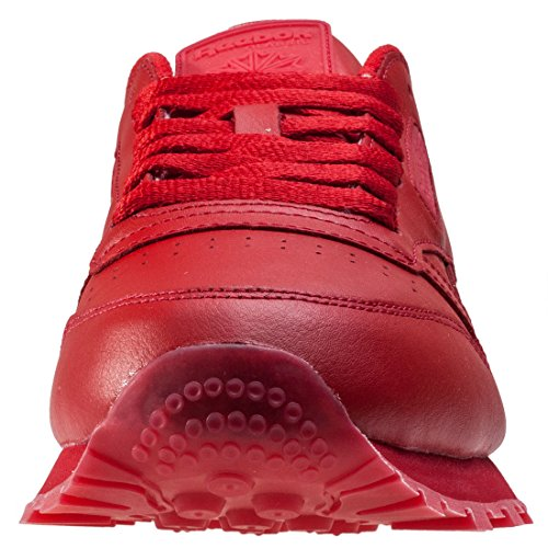 Rouge Leather Reebok Cl Chaussures Solids qIUS7
