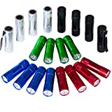 FASTPRO 20-pack Aluminum 6-LED Flashlights Set with Lanyard and 60-piece AAA Batteries Included and Pre-installed