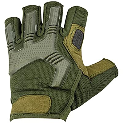 Highlander Men's Raptor Fingerless Gloves Olive Green