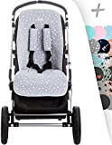 Janabebé Universal Cover Pushchair Luxury Foam + Protection Harnesses (Inglesina, Cibex, Bugaboo and More) (White Star)