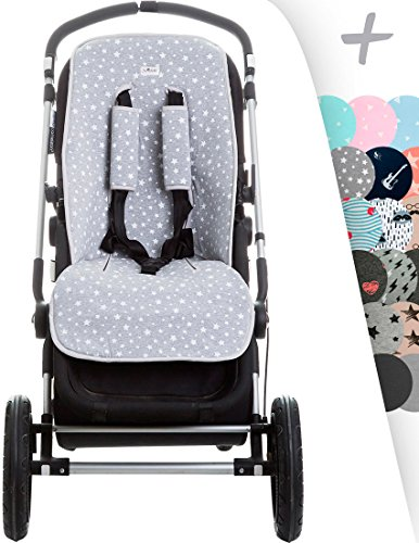 Amazon.com: Janabebé Universal Cover Pushchair Luxury Foam + Protection Harnesses (Inglesina, Cibex, Bugaboo and More) (White Star): Baby