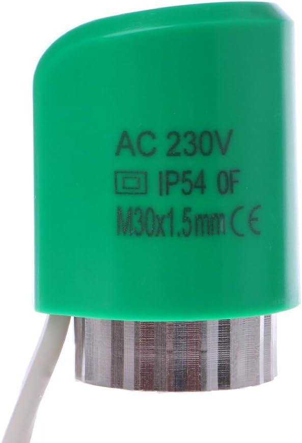 qiulip Actionneur normalement Ouvert et ferm/é pour Chauffage au Sol 230 V 2 W