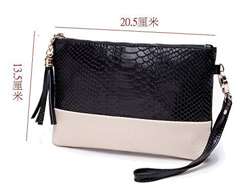 PU Evening Tassel Black Handbag Chain Clutch Vincenza Bags Snake Style Gold Bag Leather Vintage Shoulder Ladies Croc 8wYRB