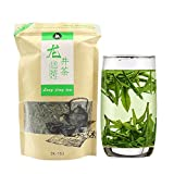 APSZST Organic Chinese Tea Top10 Famous West Lake Dragon Well Green Tea Loose Leaf Premium 100% non-GMO Grown in Hangzhou China Specialty Grade AA (High Grade) 250g(8.82 ounce) Bulk Pouch