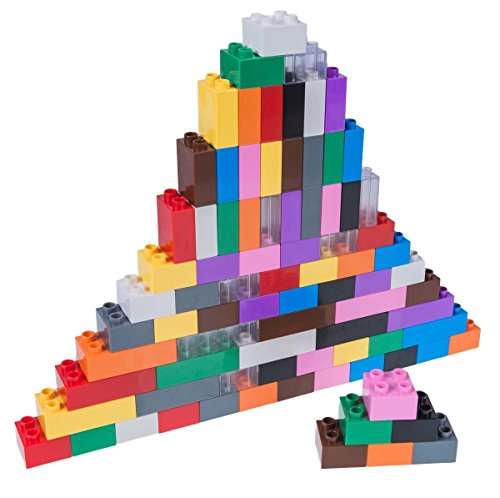 Strictly Briks Classic Big Briks Building Brick Set 100% Compatible with All Major Brands | 3 Large Block Sizes for Ages 3+ | Premium 12 Color Building Bricks | 84 Pieces