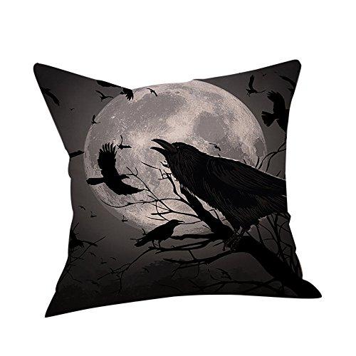Duseedik Happy Halloween Pillow Cases Linen Sofa Cushion