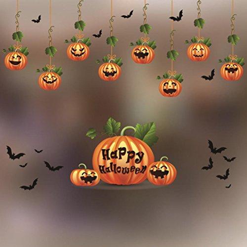 Kinghard Halloween Decorations shopping mall Bar KTV static Window Glass paste Glass paste decor Home Decor (B, multicolor) -