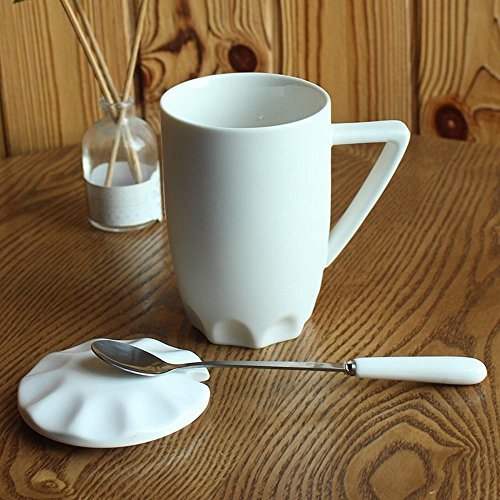 WU-Mug Continental mug ceramic cup with cover scoop water bowl couples coffee cup Office Home drinking cup large cup - Scoop Mug