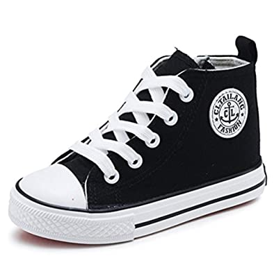 f46b3681e2 Sabe Boys Girls High Top Canvas Shoes Zipper Trainers Summer Fashion  Sneakers Casual Sport School Baseball Boots (Little Kid/Big Kid)