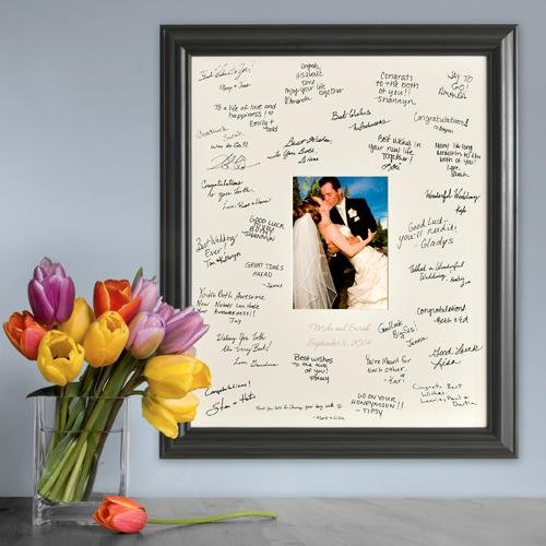 (Creative Structures Personalized Gift - Wedding Wishes Signature Guest Book Picture Photo/Photograph Frame - Laser Etched/Engraved Matting )