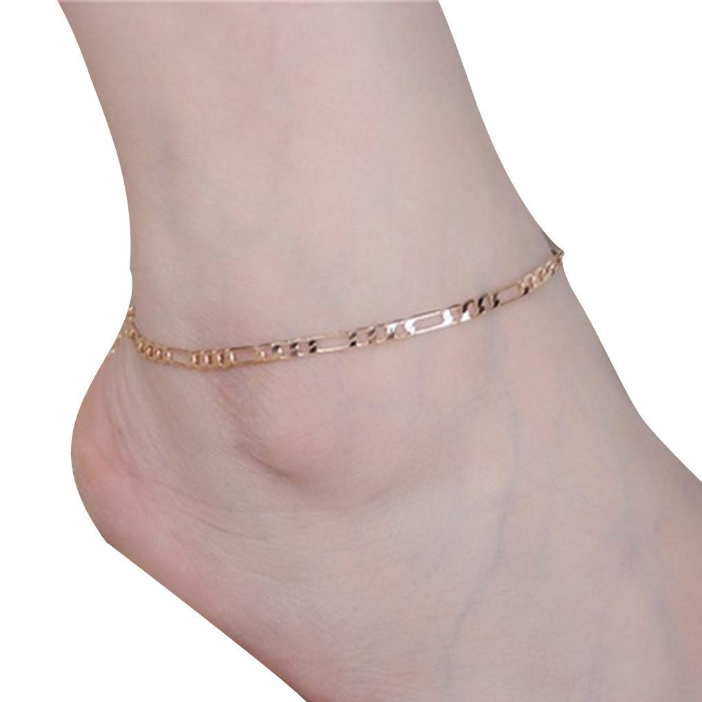 Barefoot Anklets for Women Simple Bohemia Ankle Bracelets Alloy Anklet Beach Foot Bracelet Ankle Foot Chain for Beach Party Travel