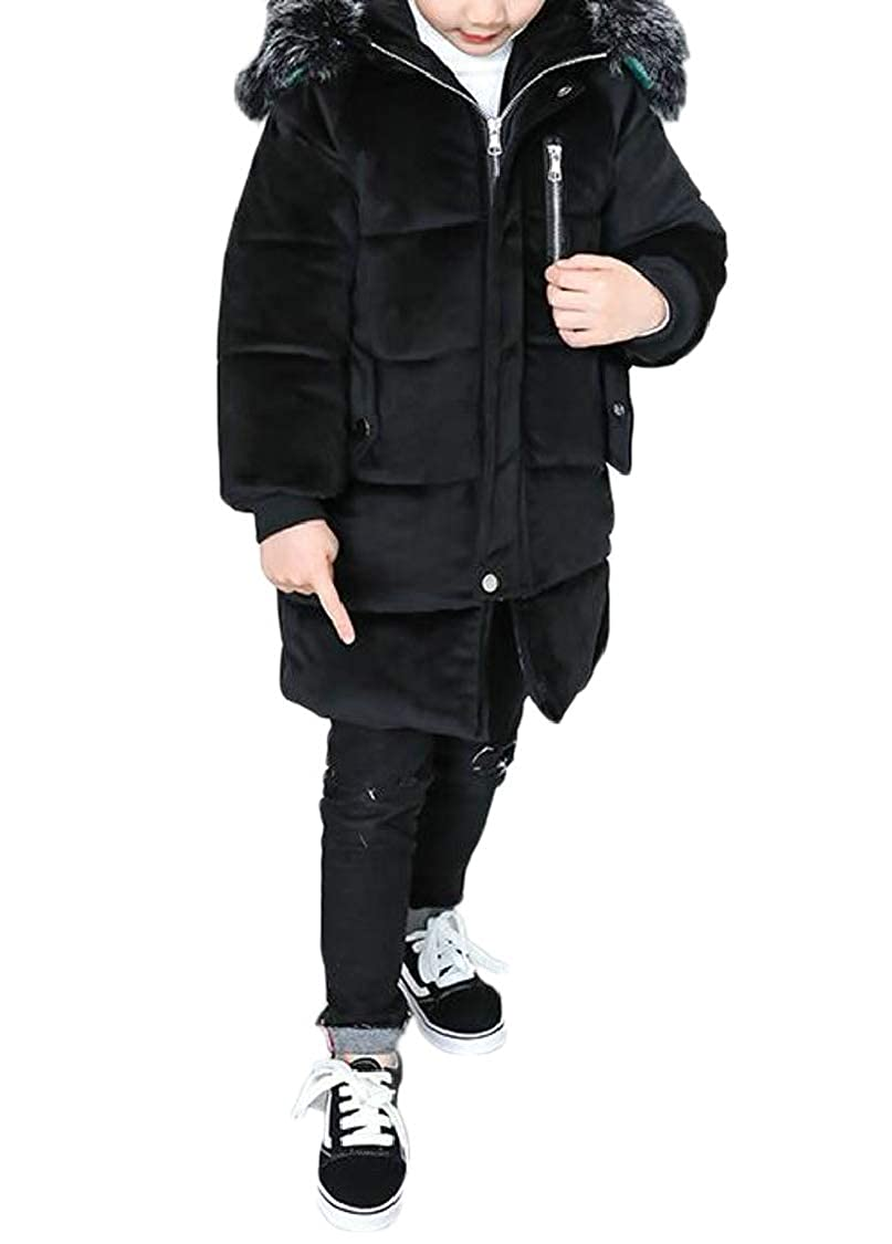 pipigo Girls Thicken Hoodie Cute Quilted Fit Fleece Parkas Coat