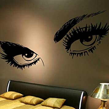 Olivia Audrey Hepburn Giant Beautiful Female Sexy Eyes Portrait Wall Decal  Sticker Abstract Art Home Removable Part 43