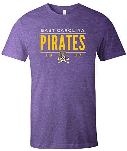 NCAA East Carolina Pirates Tradition Short Sleeve Tri-Blend T-Shirt, Purple,Medium