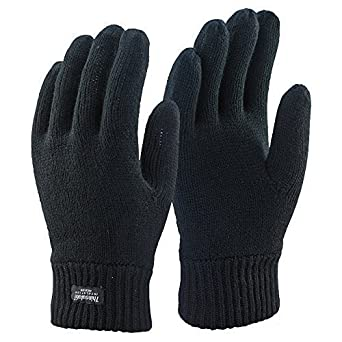 accbb76e345 Thinsulate Extreme Thermal lined knitted Gloves black Small Medium (One Size)   Amazon.co.uk  Clothing