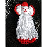 bimbabeautiful Brand Crochet Doll Appliques Handmade Woolen Red And White Sewing Art And Craft 15 PCS