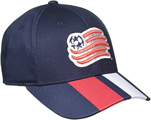 MLS New England Revolution Men's Structured Adjustable Jersey Hook Hat, One Size, Black